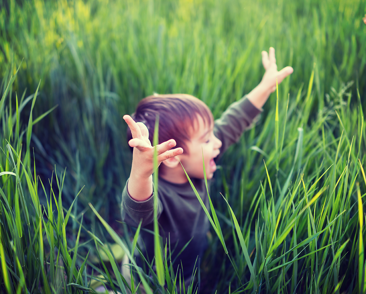 Grassy child